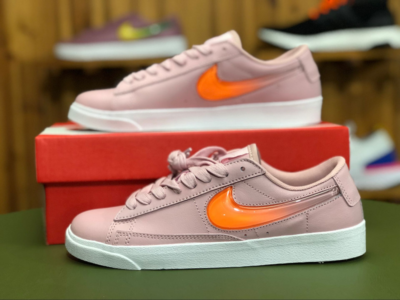 huge selection of 750af e3d54 Nike Wmns Blazer Low LX 3D Swoosh Pale Ivory Ice Pomegranate Red Pack White  AV9371 100 Women's Casual Shoes Sneakers AV9371-100