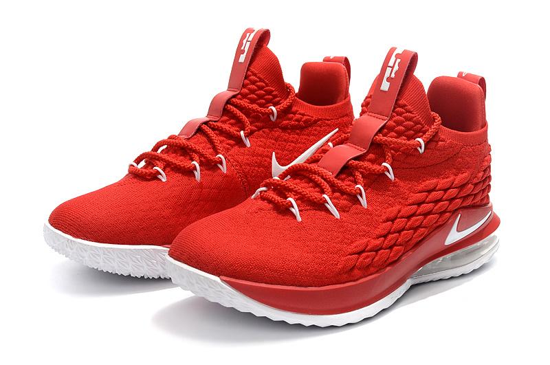 00cc3fe202c Nike LeBron 15 Low EP University Red Black White AO1755 600 James Men s  Basketball Shoes