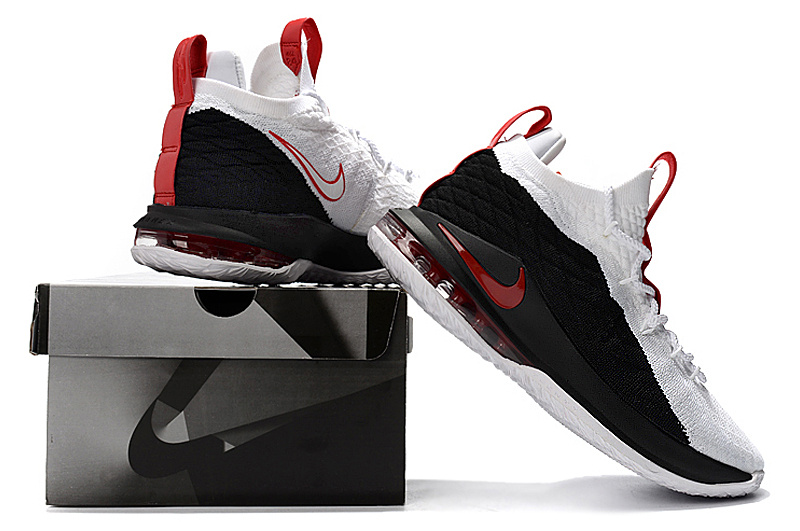 485524ab6b38e5 Nike LeBron 15 Low EP Black White Red James Men s Basketball Shoes ...