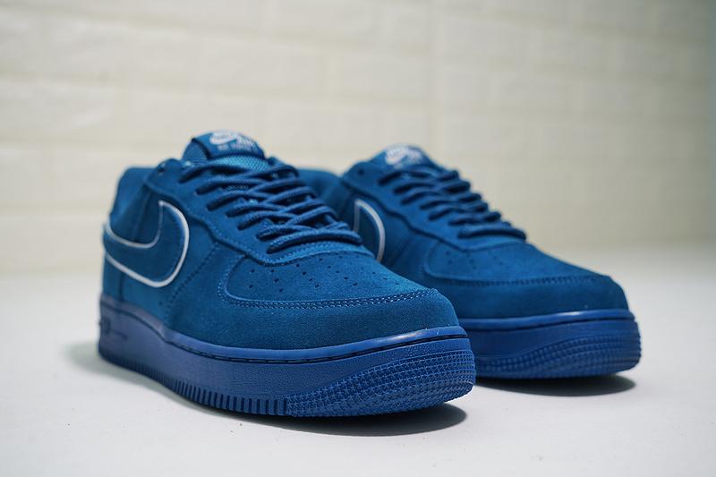 Women's 07 Force Noise Sneakers Aa1117 Air Casual Blue Lv8 Aqua White 400 Shoes Summit Men's 1 Suede Nike PTXZiuOk