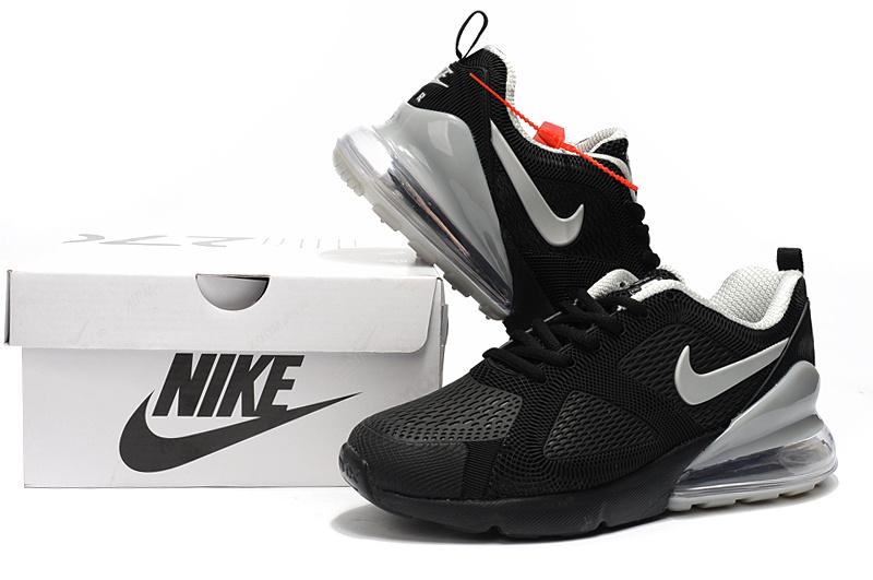 sports shoes 73144 a89e9 Nike Air Max 180 270 KPU Black Silver Men's Casual Shoes NIKE-ST004004