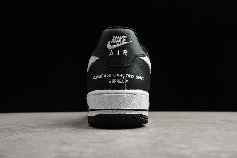 cheap for discount 40c9b 57a21 Men's Supreme X Comme Des Garcons X Nike Air Force 1 Low Black White AR7623  001 Casual Shoes Sneakers AR7623-001