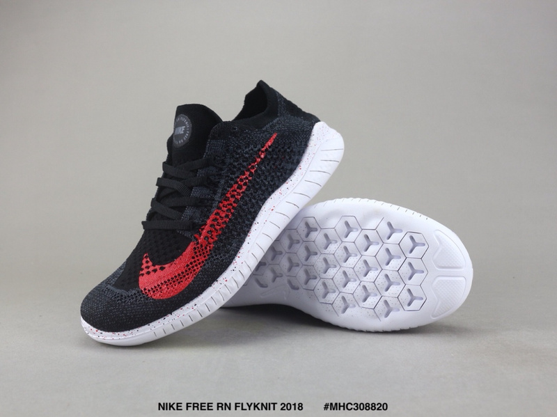 quality design 8f39f 01495 Nike Free RN Flyknit 2018 Dark Grey Red White Women's Men's Running Shoes  NIKE-ST003686
