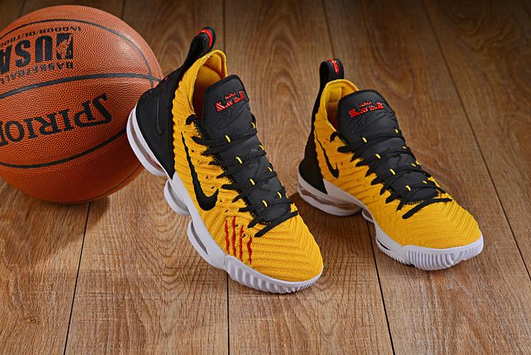 3ac95c705b468d Nike LeBron 16 Yellow White Black Men s Basketball Shoes NIKE ...