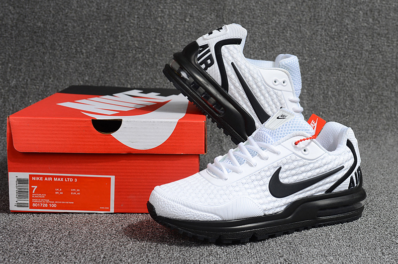new concept ca792 38609 Men's Running Shoes Nike Air Max LTD 3 Kpu Mod White Black 801728 ...