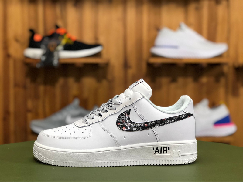 best service 3f9a4 ab4cb Women s Men s Nike Air Force 1 Just Do It AF1 Black White BQ5360 800 Casual  Shoes Sneakers BQ5360-800   WithTheSale.com