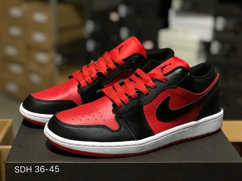 reputable site 40109 51f15 Nike Air Jordan 1 Low Gym Red Black White 553558 610 Womens Mens Athletic  Basketball Shoes 553558-610