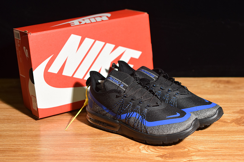 9209162395 Nike Air Max Sequent 4 Utility Black Racing Blue Light Grey Metal ...