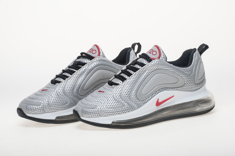 a5d983aff4d2 Nike Air Max 720 Silver Grey Red White AO2924 008 Women s Men s Casual Shoes