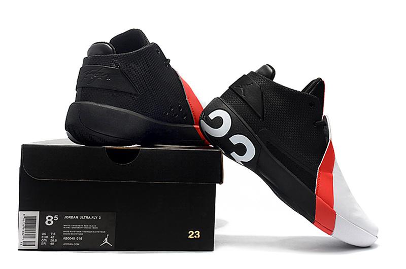 19b28f50a68 Air Jordan Ultra Fly 3 White Red Black Men's Basketball Shoes NIKE ...