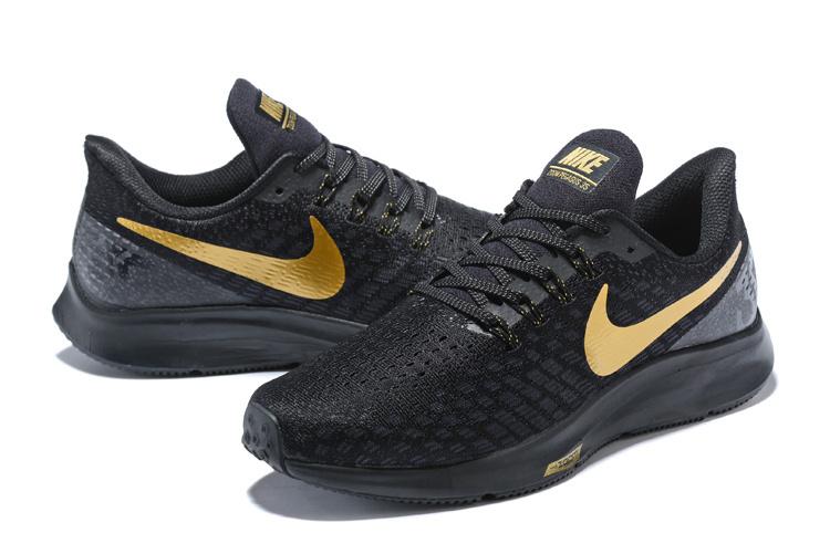 261feb3890744 Men s Casual Shoes Nike Air Zoom Pegasus 35 Black Gold 942851 088 ...