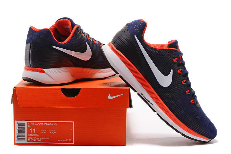 ... Men s Running Shoes Black Red 880555 403 Nike Air Zoom Pegasus 34 Suede  Navy Blue White Red . 151987f3f