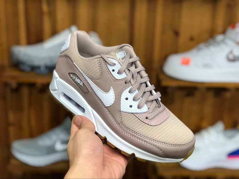 official photos 452ed d3735 Nike Air Max 90 W Taupe White Light Brown 325213 210 Womens Casual Shoes  Sneakers
