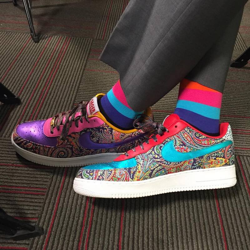 Women's Men's Nike Air Force 1 Low Craig Sager Multi Color 815773 991 Casual Shoes Sneakers 815773 991a