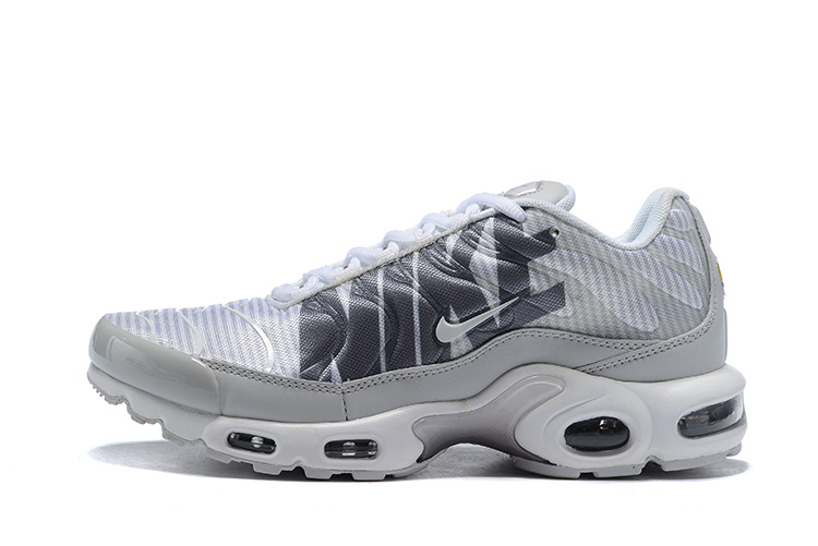 newest e7177 f804a Nike Air Max Plus TN Striped Pure Platinum Dark Grey White Wolf Grey AT0040  003 Men's Running Shoes AT0040-003
