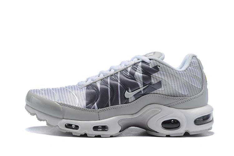 Nike Air Max Plus TN Striped Pure Platinum Dark Grey White Wolf Grey AT0040 003 Men's Running Shoes AT0040 003
