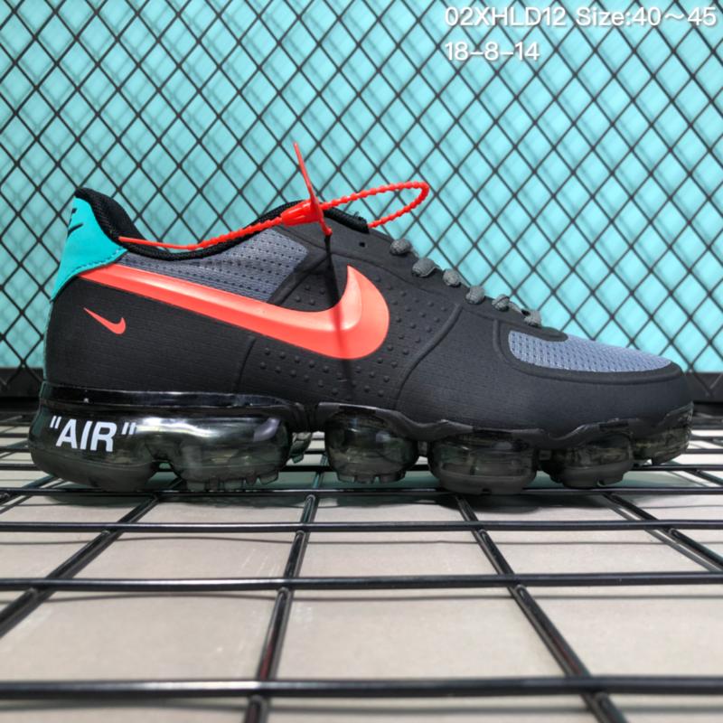 8b30dbf1fc9 NIKE AIR VAPORMAX 2018 BLACK RED BLUE Men s Running Shoes NIKE ...