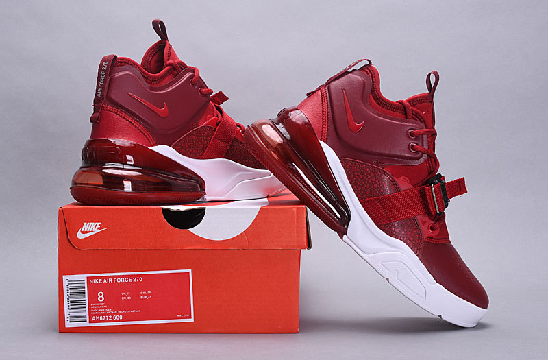 separation shoes 02c8e 1bb9c Nike Air Force 270 Red Croc AH6772 600 Men's Casual Shoes Sneakers  AH6772-600