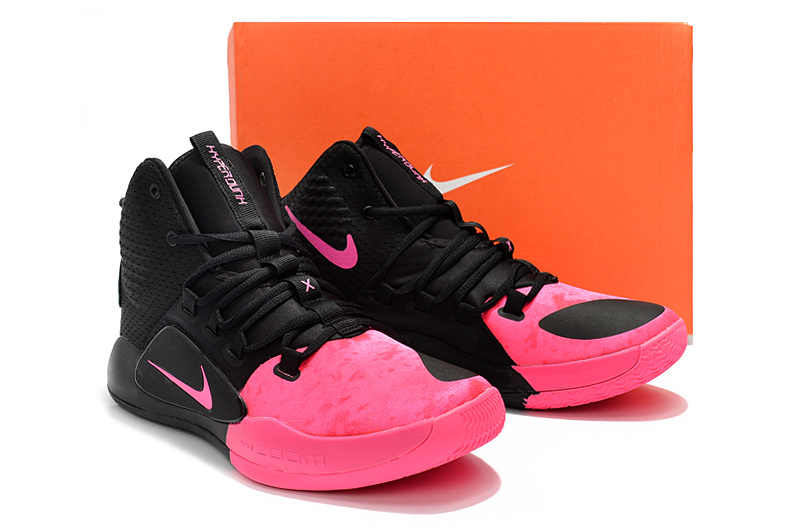 reputable site 9b61f 87329 2018 Nike Hyperdunk X Kay Yow EP Black Pink Men s Basketball Shoes