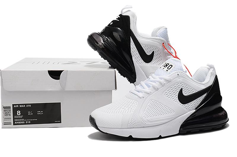 Nike Air Max 180 270 KPU White Black AH8060 010 Men's Casual Shoes AH8060 010