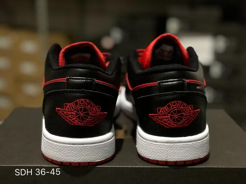 reputable site 585c7 675ff Nike Air Jordan 1 Low Gym Red Black White 553558 610 Womens Mens Athletic  Basketball Shoes 553558-610