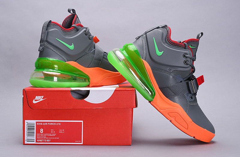 new style 14843 267f7 Nike Air Force 270 Sherbert Atmosphere Grey Total Orange Hot Punch Volt  AH6772 007 Men's Casual Shoes Sneakers AH6772-007D