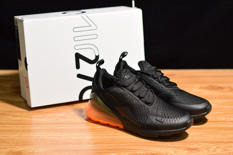 13dea9aad83 Perfect Nike Air Max 270 Orange Heel Unit Black Total Orange AH8050 ...
