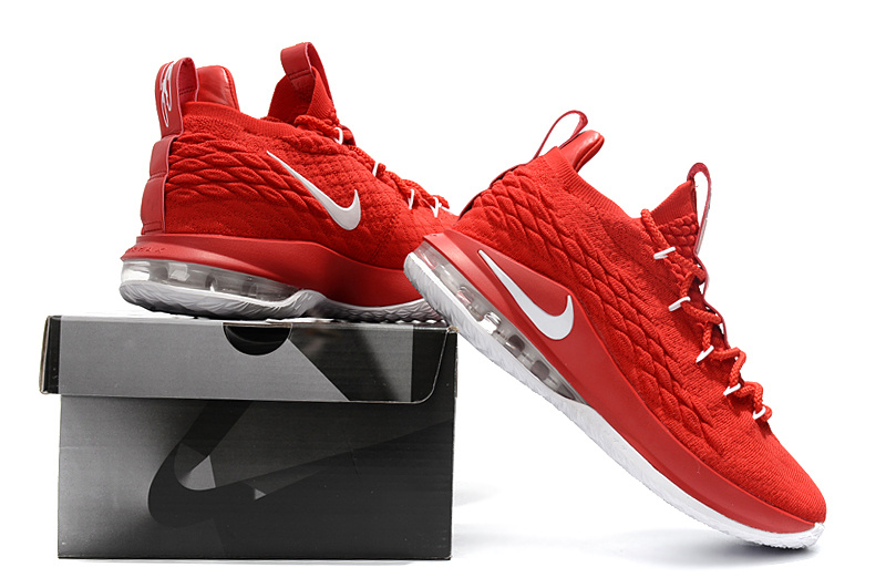 Nike LeBron 15 Low EP University Red Black White AO1755 600 James ... e8674d285