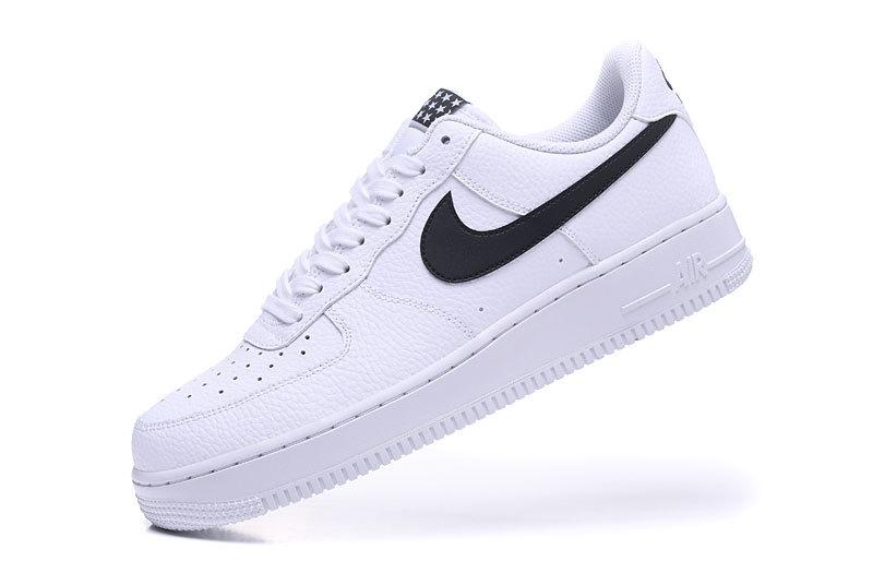 Women s Men s Nike Air Force 1 07 Starlet White Black AA4083 103 Casual Shoes  Sneakers 9190e084e