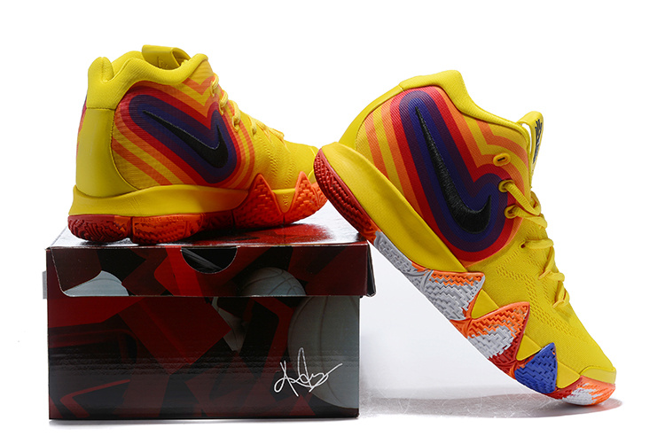 competitive price 976a0 a3ef2 Nike Kyrie 4 Uncle Drew Amarillo Sail Black 943806 700 Men's Basketball  Shoes 943806-700