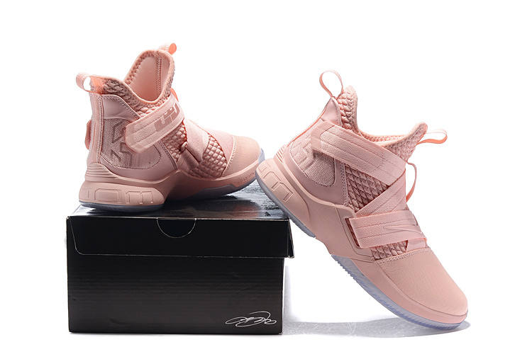 various colors a27a3 8beb2 Nike LeBron Soldier XII SFG EP 12 James LBJ Pink AO4055 900 Men's  Basketball Shoes AO4055-900