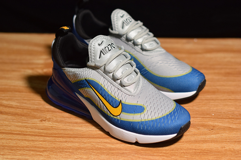 8d4fc6b292e1e9 Economics Nike Air Max 270 Fifa World Cup Russia 2018 Grey Blue Yellow  White AH8050 401