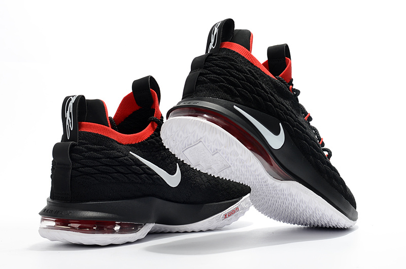 sneakers for cheap c450b 6ba1e Nike LeBron 15 Low EP Black Red White James Men's Basketball Shoes  NIKE-ST003596