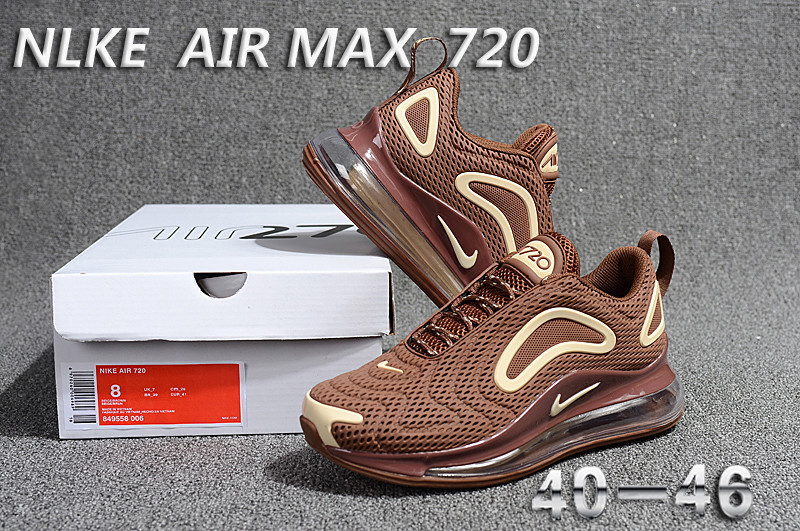 857242d89c5 Nike Air Max 720 KPU Brown Beige 849558 006 Men s Casual Shoes ...