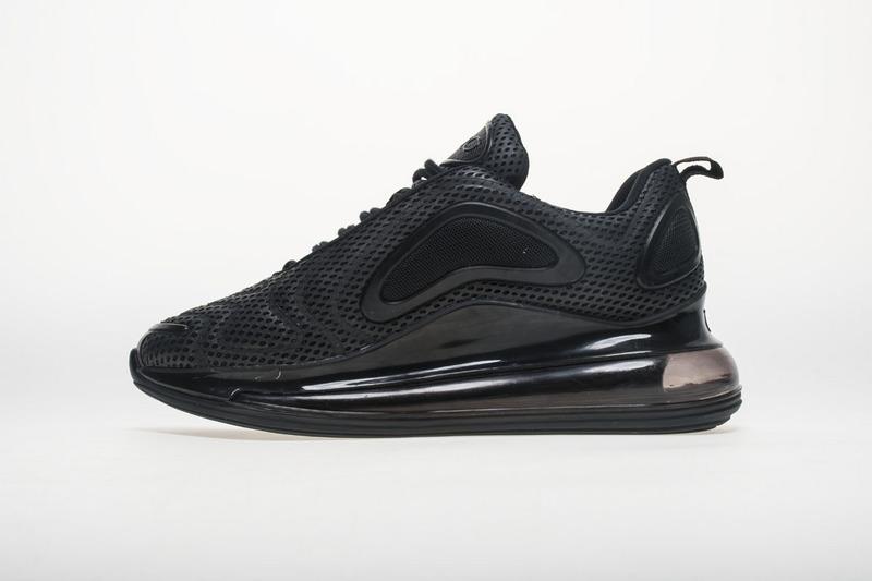 a01558dbe7578 Nike Air Max 720 All Black AO2924 004 Women's Men's Casual Shoes ...