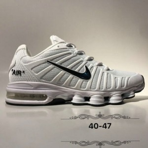 brand new 47fc8 3ea51 Nike Air Max Shox 2019 KPU White Black Men s Running Shoes