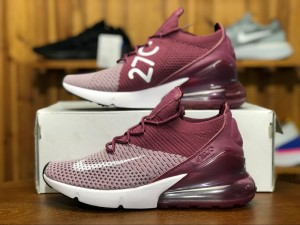 6032a580fee41 Nike Air Max 270 Flyknit Plum Fog Vintage Wine Total Crimson White AO1023  500 Women s Men s
