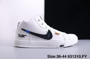93e55a3051ce6 Nike Blazer Mid White Black Orange Women s Men s Casual Shoes Sneakers