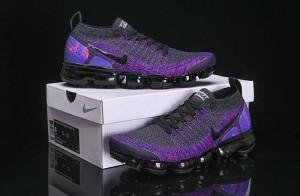 a989b2266c437 Nike Air VaporMax Flyknit 2 Dark Grey Purple 942842 600 Women s Men s  Running Shoes