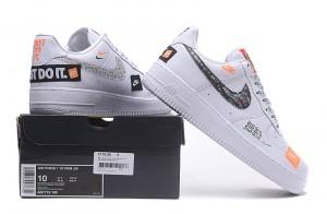 b8e179bef Nike Air Force 1 '07 Premium JDI Just Do It Pack White Black Total Orange