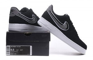 65a69f0a9254 Nike Air Force 1 Low 07 LV8 Black Cool Grey White 823511 014 Women s Men s  Casual