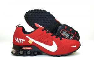926c5ee7300b Nike Air Shox Off White Bright Red Black Total Orange Men s Running Shoes