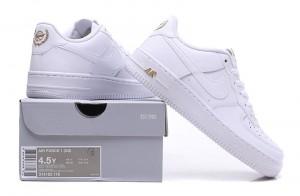 ff7d0bf33c94e9 Nike Air Force 1 White Metallic Gold 314192 178 Women s Men s Casual Shoes  Sneakers