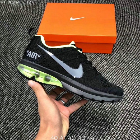 premium selection ef366 624ac Nike Air Max 2018 Flyknit Black Green Men's Running Shoes NIKE-ST004145