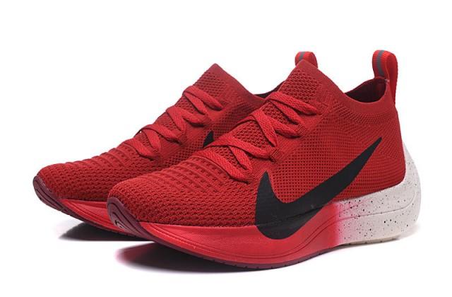 f3d7c235a311 Exquisite Nike React Vapor Street Flyknit University Red Black Men s  Sportswear Running Shoes