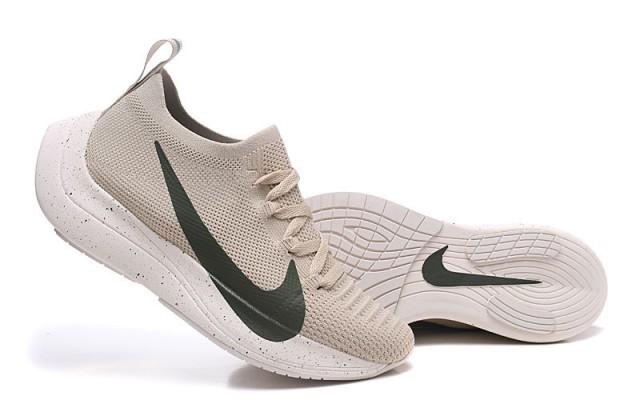 684981521d537 Nike React Vapor Street Flyknit Beige Black Men s Sportswear Running Shoes