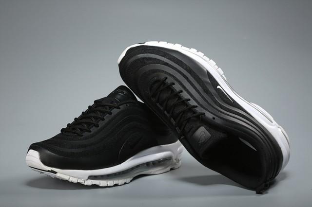 07d7aadb275ed0 Nike Air Max 97 Black White Men s Casual Shoes NIKE-ST004036 ...