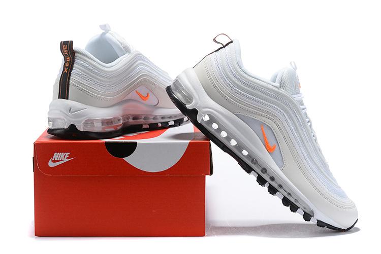 87f49ccfac Nike Air Max 97 Cone White Metallic Silver Orange BQ4567 100 Women's ...