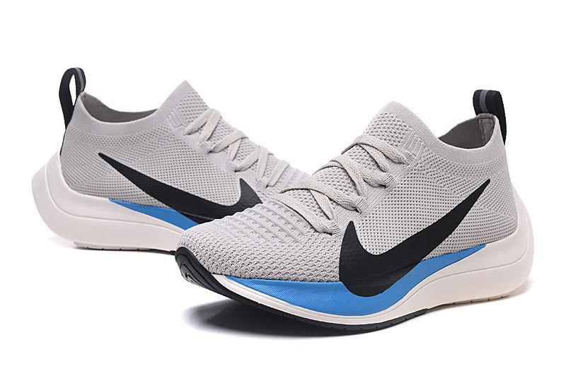 517e1dc85d9e Nike React Vapor Street Flyknit Wolf Black Blue Men s Sportswear Running  Shoes