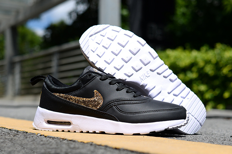 new styles dae56 0f633 ... release date nike air max thea 87 paillette black gold white womens  e3810 4d7d6